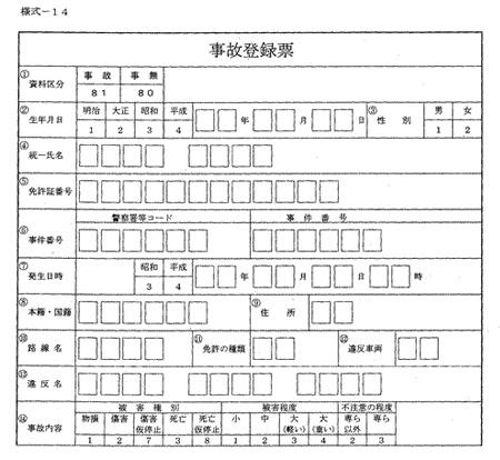 事故登録票